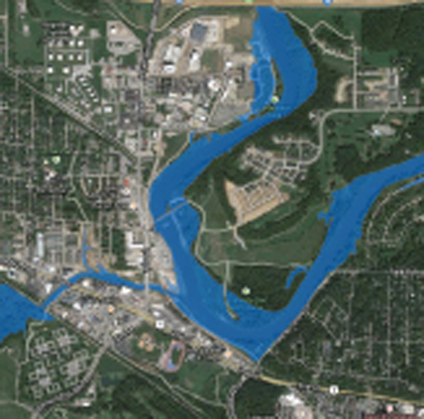 One of the IFC flood inundation maps for Iowa communities