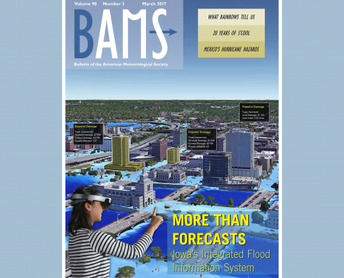 The Iowa Flood Center was featured on the cover of the Bulletin of the American Meteorological Society