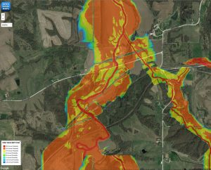 A flood risk map in the Iowa Flood Information System