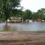 Homes inundated by Big Sioux River flooding