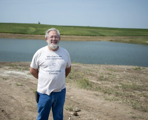 Soap Creek Board Member Jerry Parker believes in flood mitigation through conservation practices.