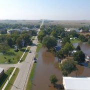 Flooding in Plainfield, Iowa