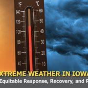 Extreme weather symposium sign